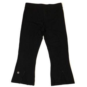 lululemon athletica Pants - Lululemon Black Cropped Athletic Wear Pants [8]